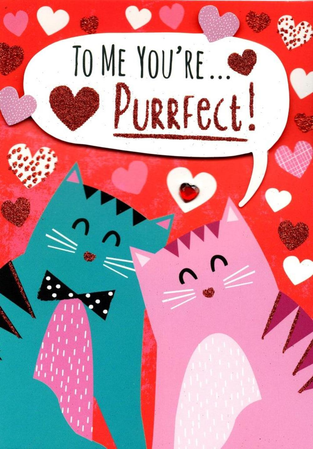 You're Purrfect Valentine's Day Greeting Card