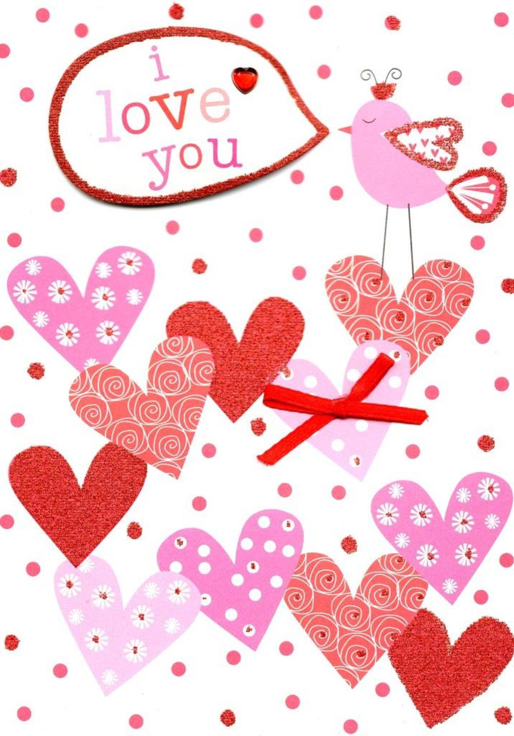 I Love You Valentine's Day Greeting Card