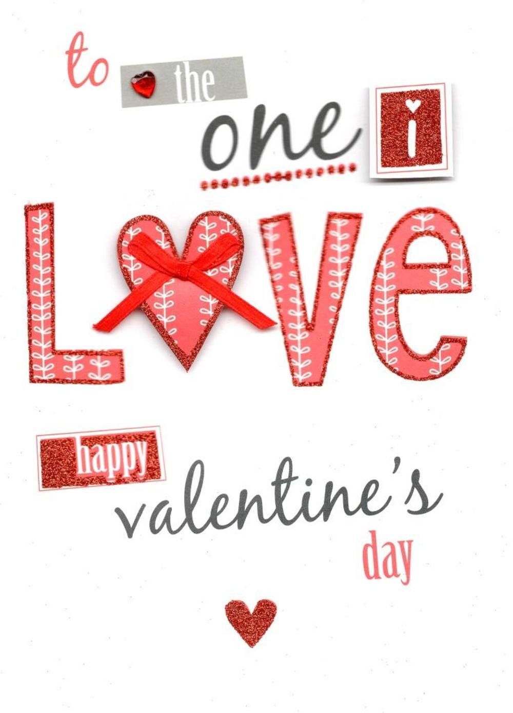 One I Love Valentine's Day Greeting Card