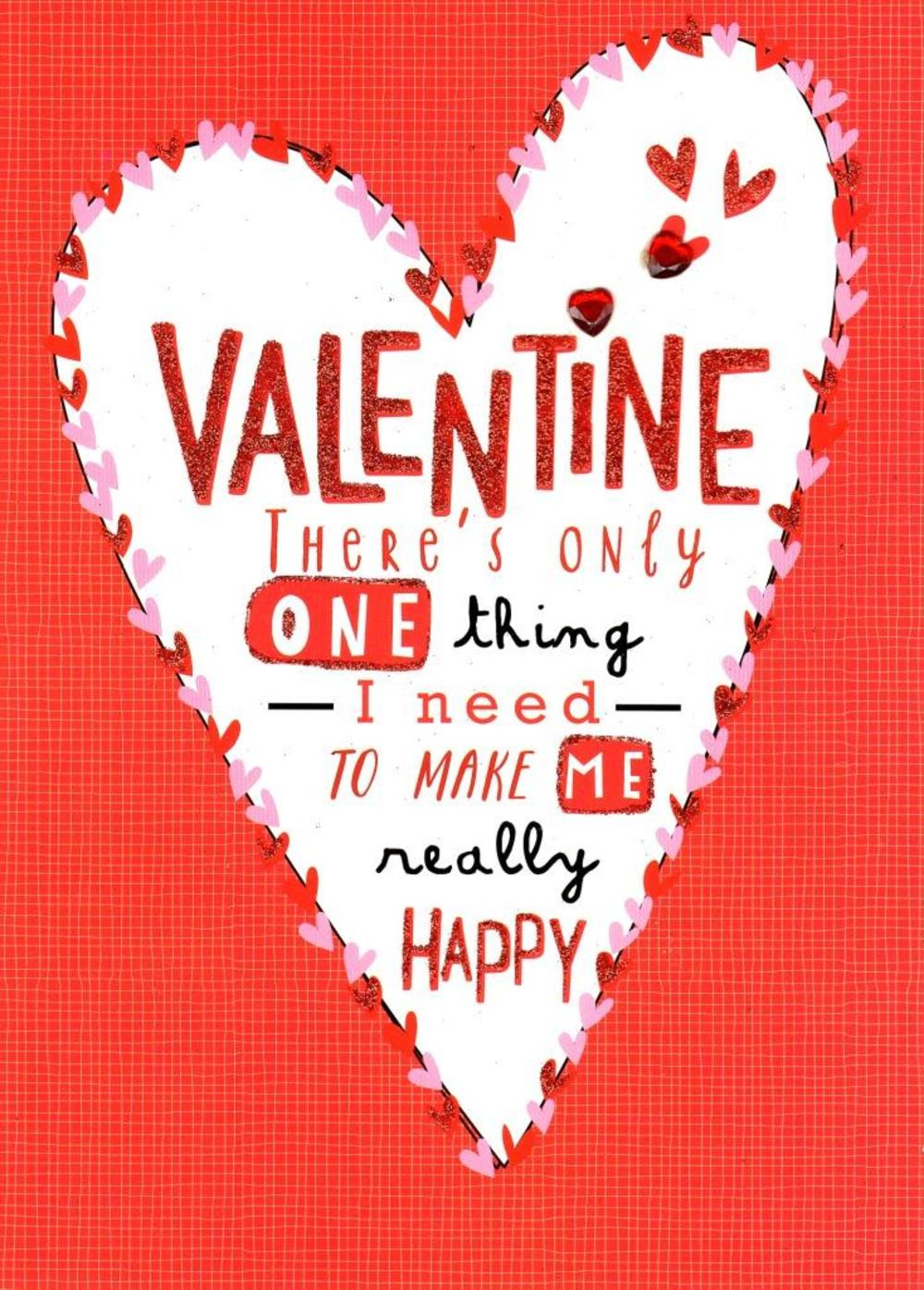 You Make Me Happy Valentine's Day Greeting Card