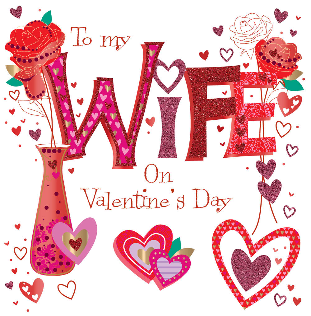 Wonderful Wife Valentine's Day Greeting Card