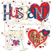Wonderful Husband Valentine's Day Greeting Card