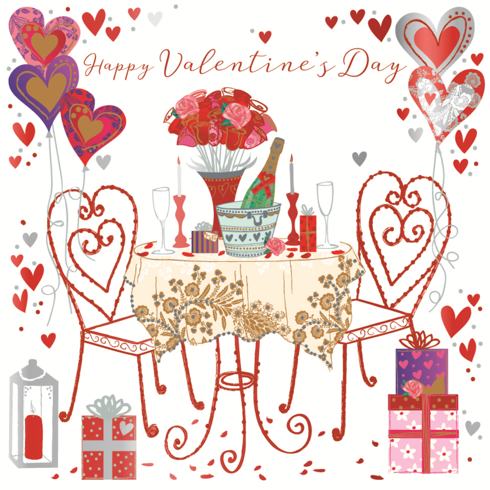 Romantic Happy Valentine's Day Greeting Card