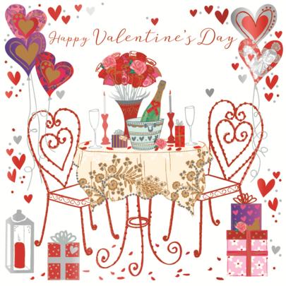 Romantic Happy Valentine's Day Greeting Card