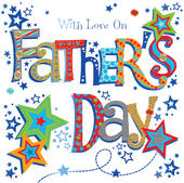 With Love On Father's Day Greeting Card