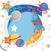 Daddy Love You To Moon Father's Day Card