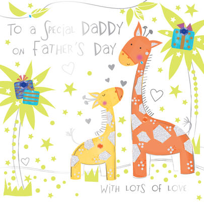 Special Daddy On Father's Day Greeting Card