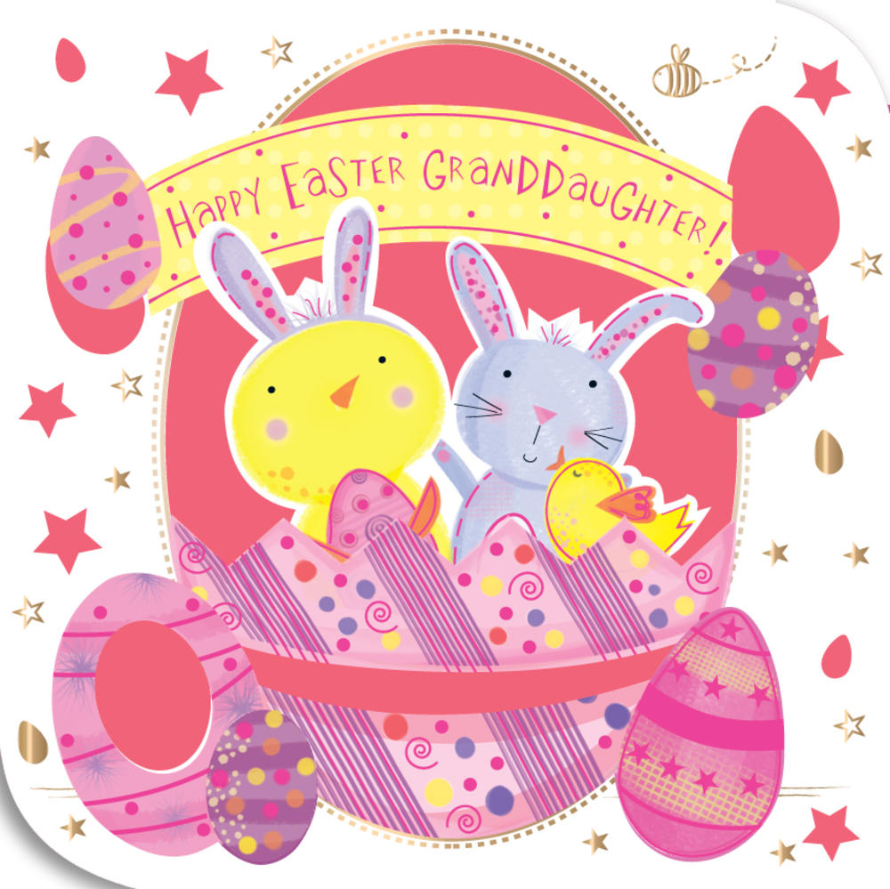 Granddaughter Happy Easter Greeting Card