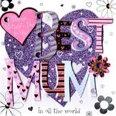 Best Mum Happy Mother's Day Greeting Card