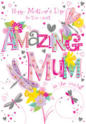 Amazing Mum Happy Mother's Day Greeting Card