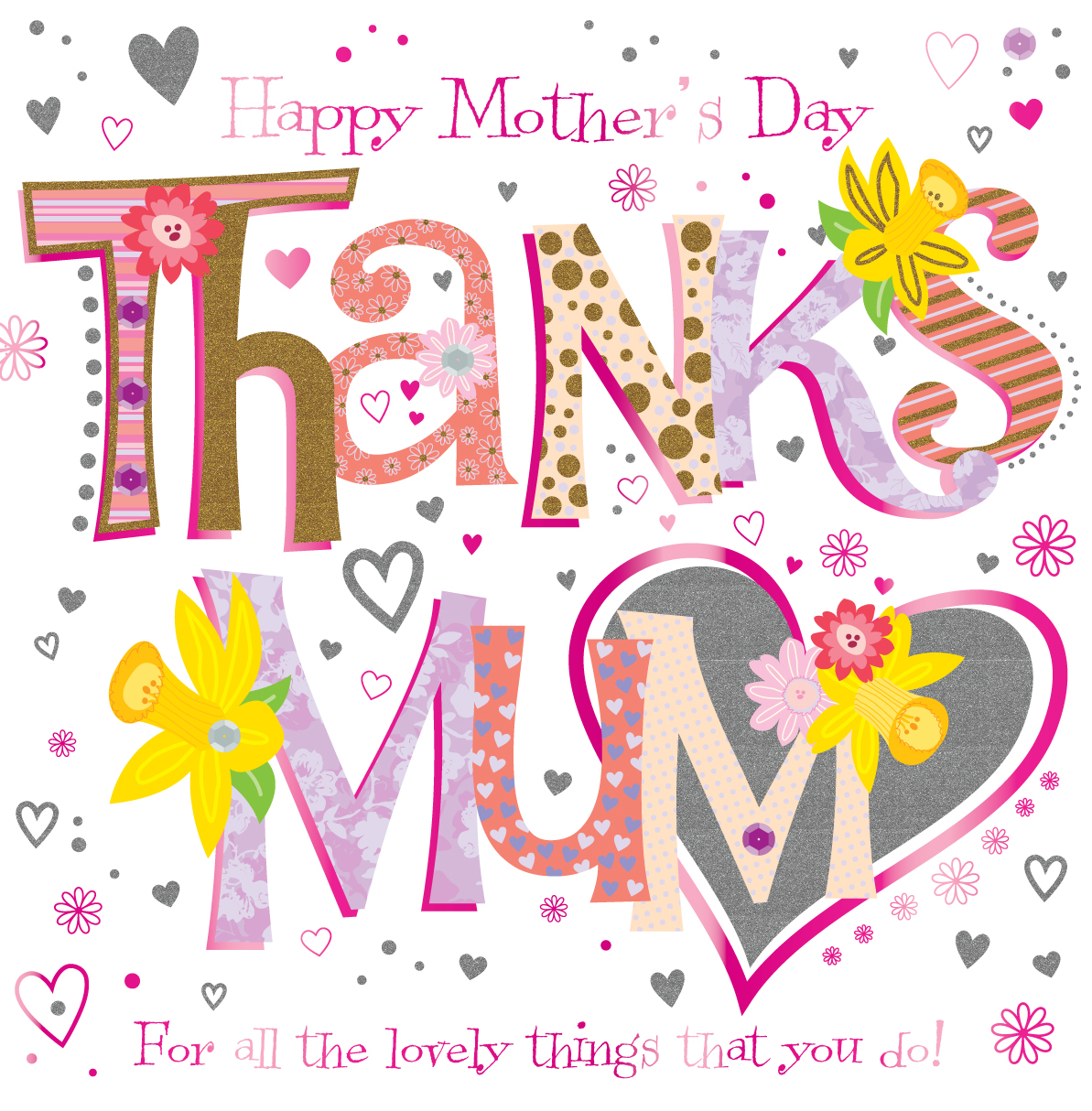 Thanks mum happy mothers day greeting card cards love kates thanks mum happy mothers day greeting card m4hsunfo