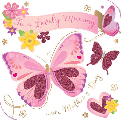 Lovely Mummy Happy Mother's Day Greeting Card