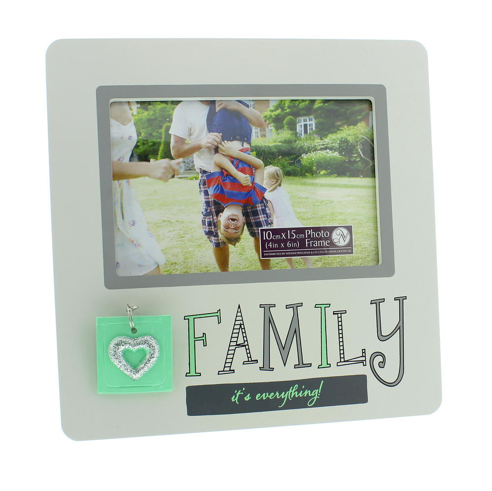 """Family It's Everything Wooden 6"""" X 4"""" Photo Frame"""