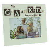 "My Grandkids Lovely Wooden 6"" X 4"" Photo Frame"