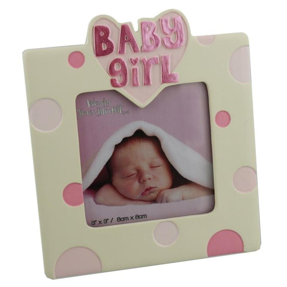 "New Baby Girl 3"" X 3"" Resin Photo Frame"