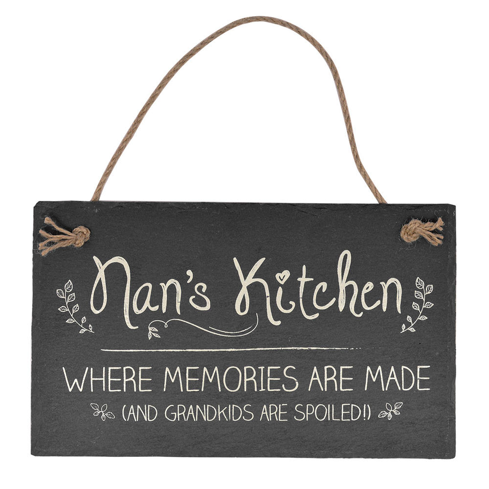 Nan's Kitchen Hanging Slate Plaque Sign Gift