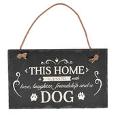 Blessed With A Dog Hanging Slate Plaque Sign Gift