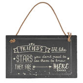 Friends Are Like Stars Hanging Slate Plaque Sign Gift