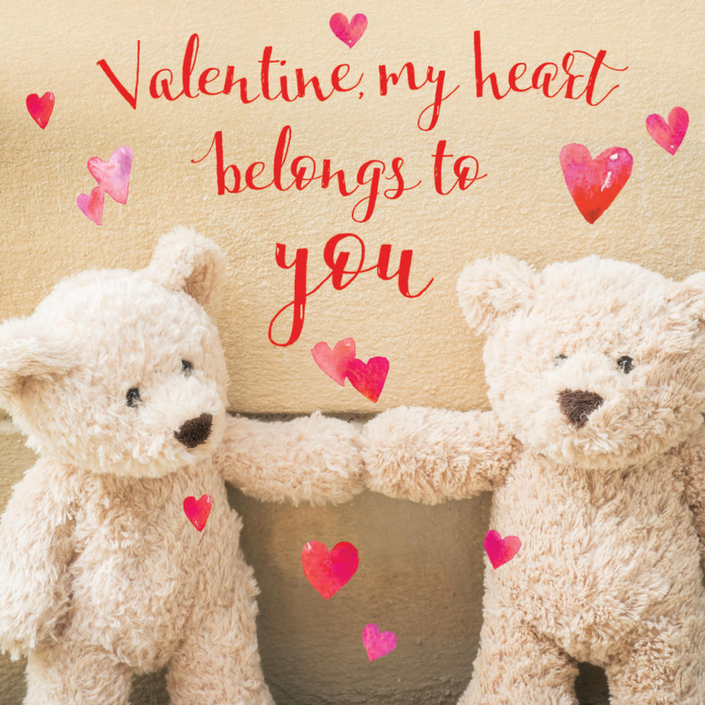 Cute Teddy 3D Holographic Valentine's Day Card