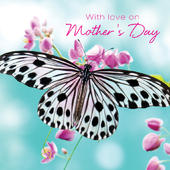 3D Holographic Butterfly Happy Mother's Day Card