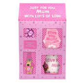 Boofle Lovely Mum Mug, Socks, Keyring & Chocs Gift Set