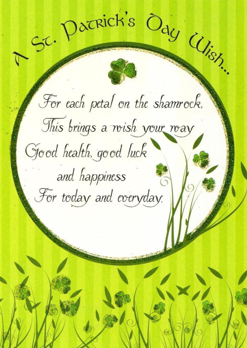 St Patricks Day Wish Greeting Card Cards Love Kates