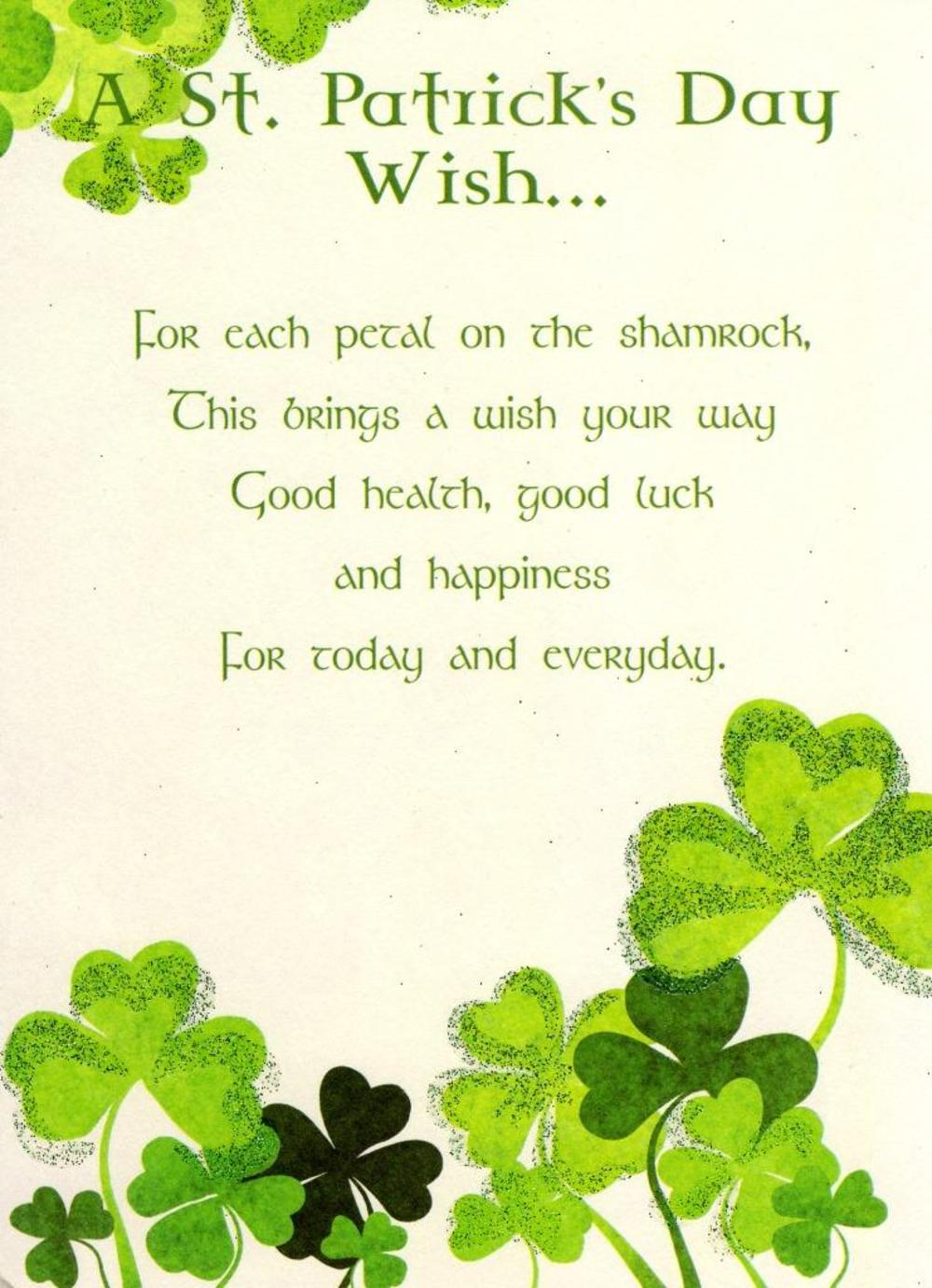 St. Patrick's Day Wish Greeting Card