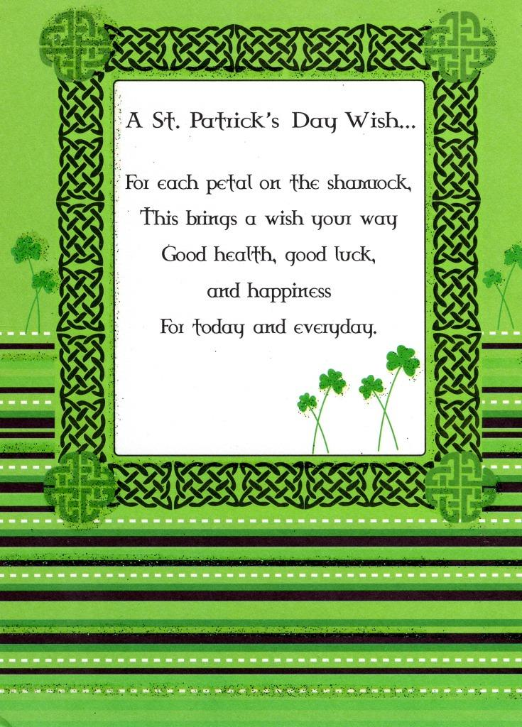 St Patrick S Day Wish Greeting Card Cards