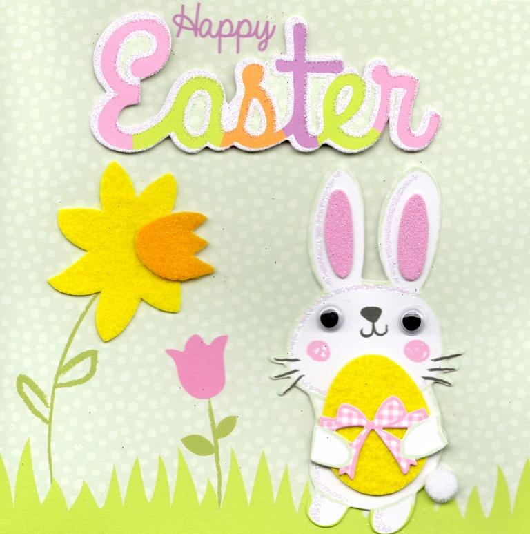 Bunny happy easter greeting card cards love kates bunny happy easter greeting card m4hsunfo