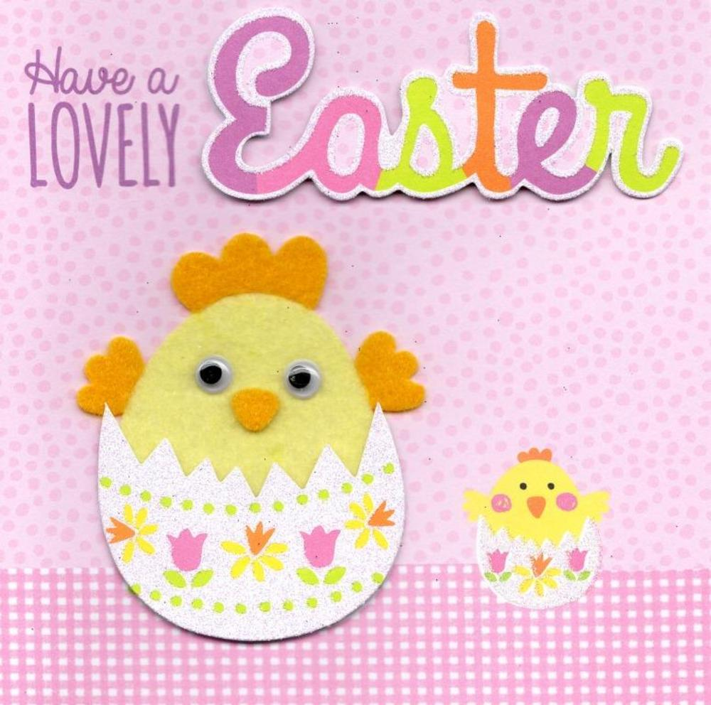 Cute Chick Happy Easter Greeting Card