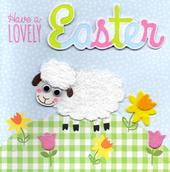 Cute Sheep Happy Easter Greeting Card