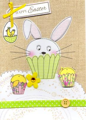 Happy Easter Pretty Embellished Greeting Card