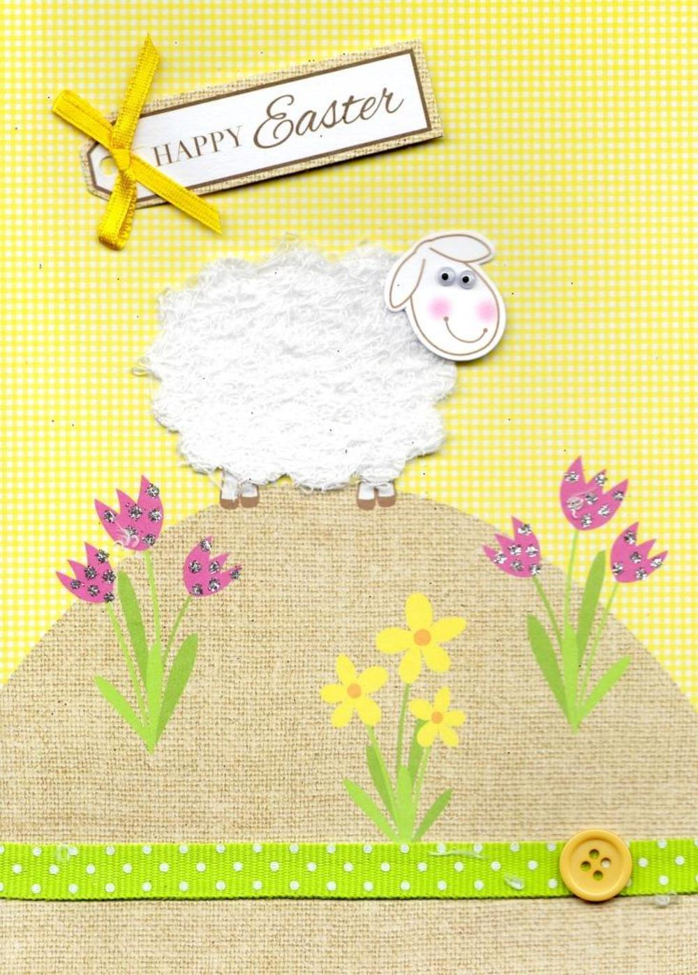 Happy Easter Cute Embellished Greeting Card