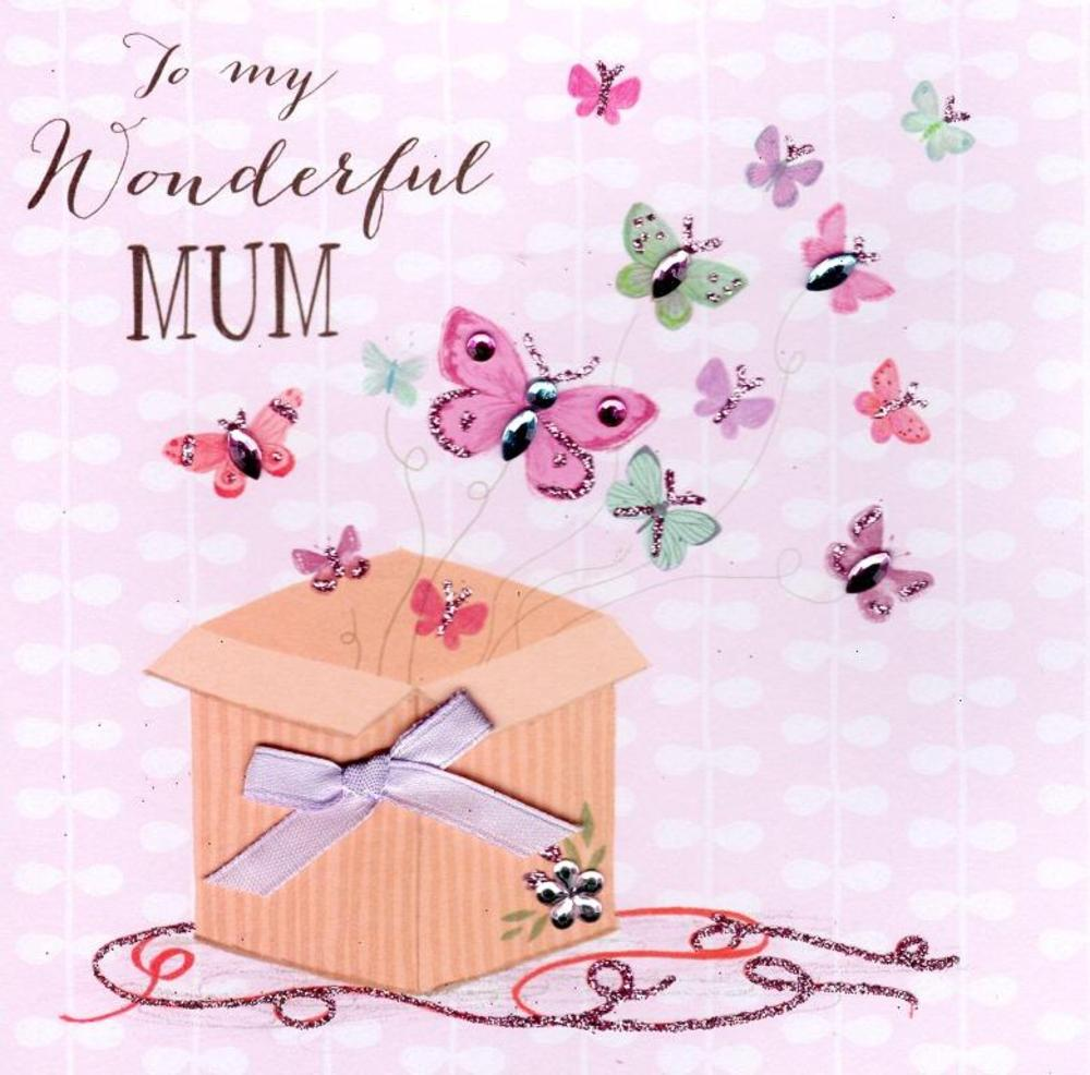 Wonderful Mum Hand-Finished Mother's Day Card