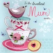 "Loveliest Mum 8"" Square Happy Mother's Day Card"