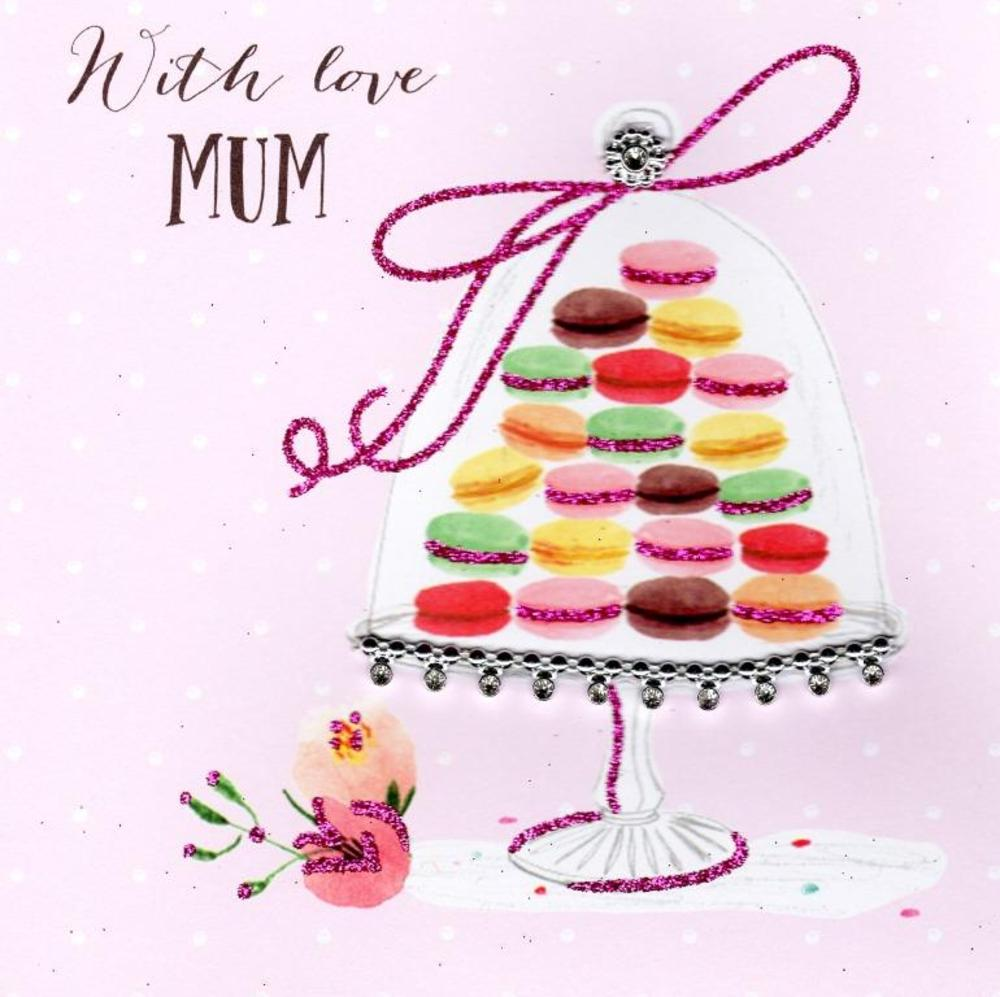 With Love Mum Hand-Finished Mother's Day Card