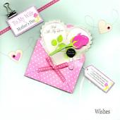 "To Wife 8"" Square Happy Mother's Day Card"