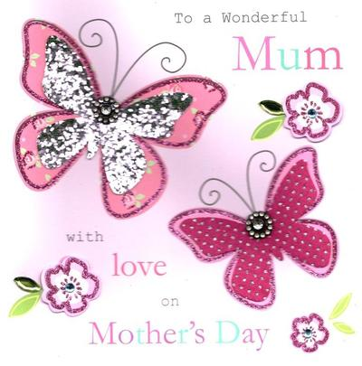 """Wonderful Mum 8"""" Square Happy Mother's Day Card"""