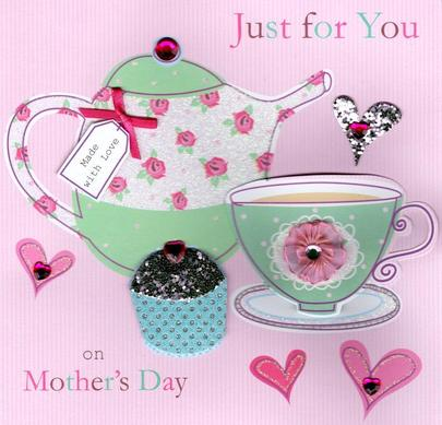 """Just For You 8"""" Square Happy Mother's Day Card"""