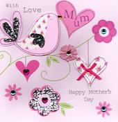 "With Love Mum 8"" Square Happy Mother's Day Card"