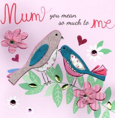 "Mum You Mean So Much 8"" Square Happy Mother's Day Card"