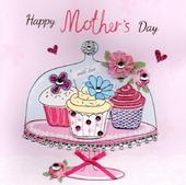 "Cupcakes 8"" Square Happy Mother's Day Card"