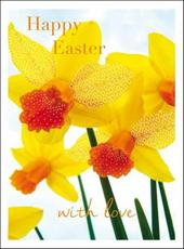 Pack of 5 Happy Easter Daffodil Greetings Cards