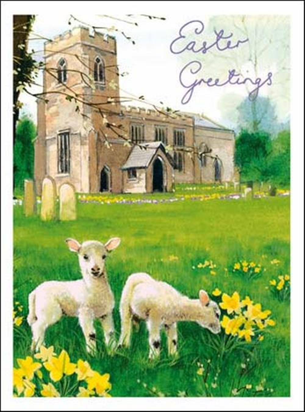 Pack of 5 Church Easter Greetings Cards
