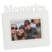 "Memories 6"" x 4"" Freestanding White Vintage Photo Frame"