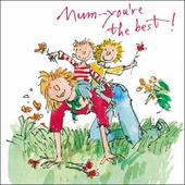 Quentin Blake Best Mum Mother's Day Greeting Card