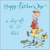 Quentin Blake Chip Off The Old Block  Father's Day Greeting Card