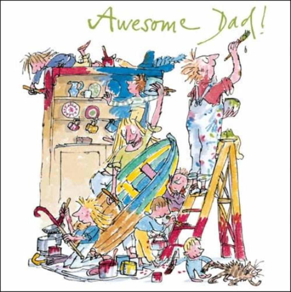 Quentin Blake Awesome Dad Happy Father's Day Greeting Card