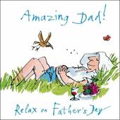 Quentin Blake Amazing Dad Happy Father's Day Greeting Card