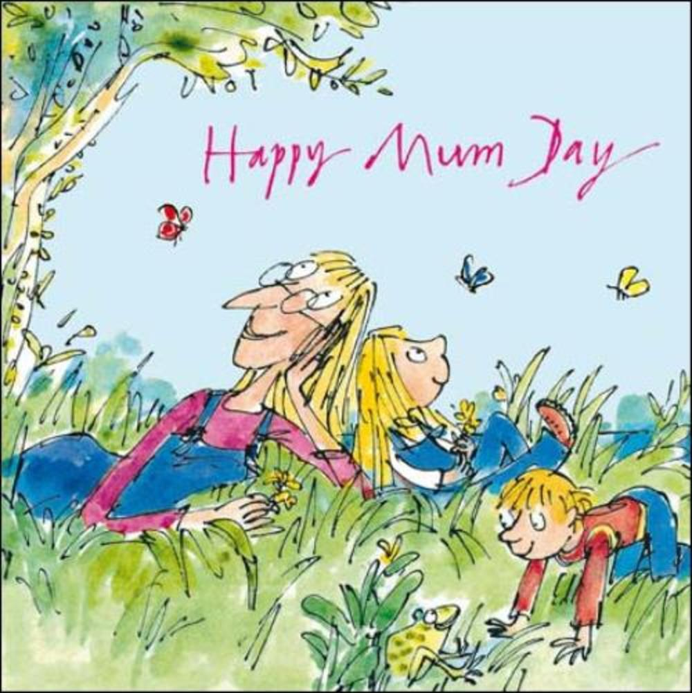 Quentin Blake Happy Mum Day Mother's Day Greeting Card
